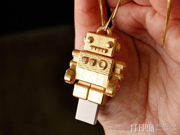 机器人USB 3D模型  图4