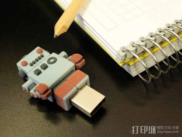 机器人USB 3D模型  图8