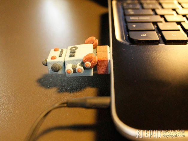 机器人USB 3D模型  图7