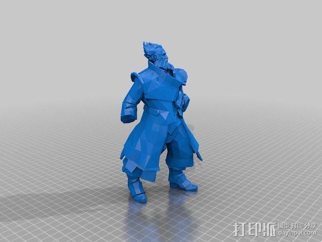 刀塔传奇Kunkka船长 3D模型  图3