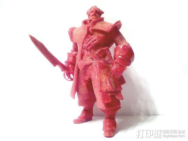 刀塔传奇Kunkka船长 3D模型  图5