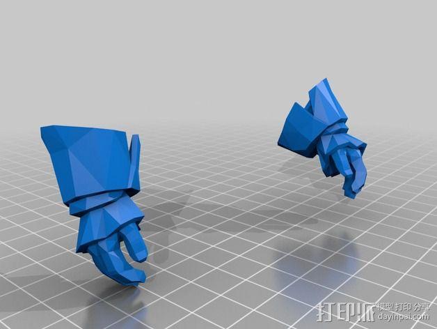 刀塔传奇Kunkka船长 3D模型  图4