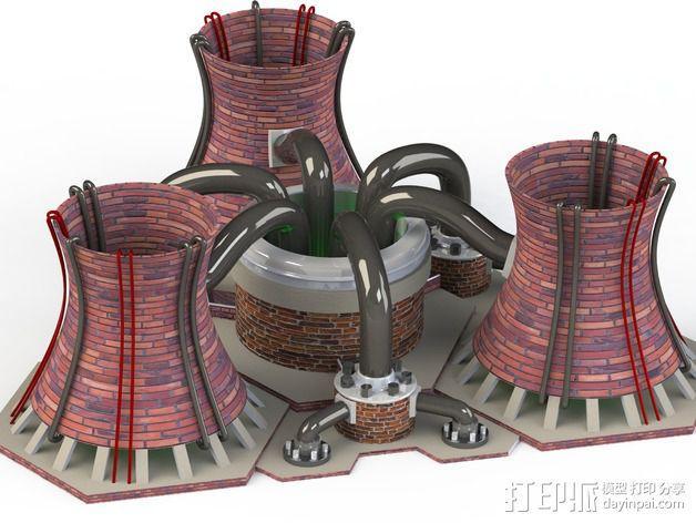 核电站模型  3D模型  图2