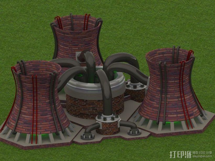 核电站模型  3D模型  图1