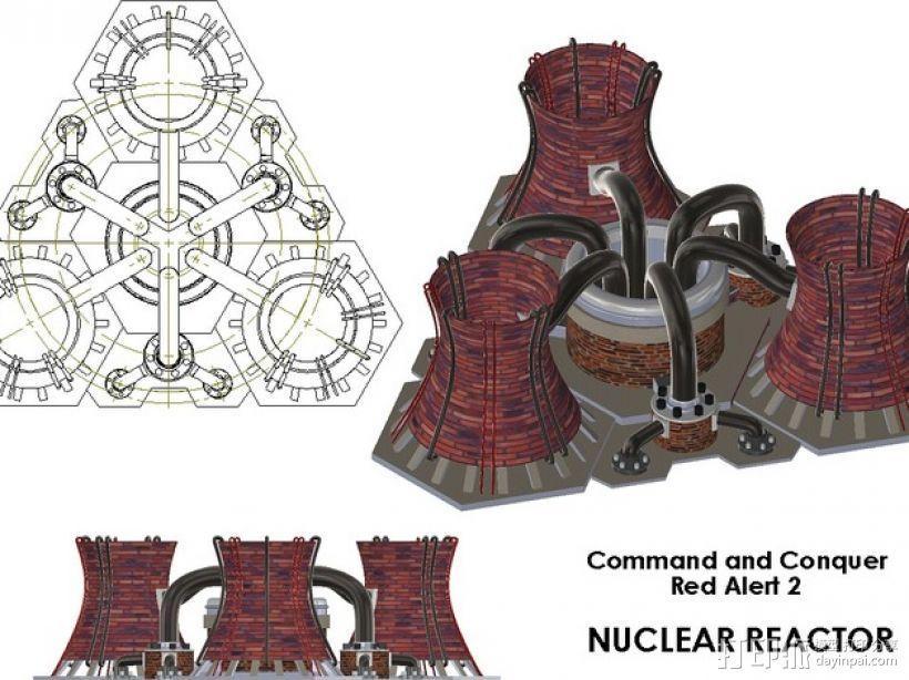 核电站模型  3D模型  图6
