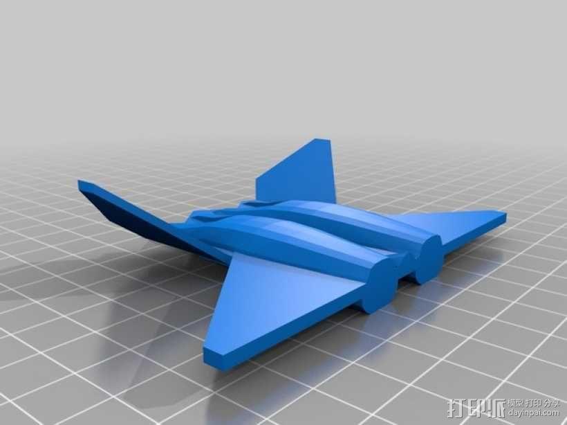 YF23黑寡妇战斗机 3D模型  图3