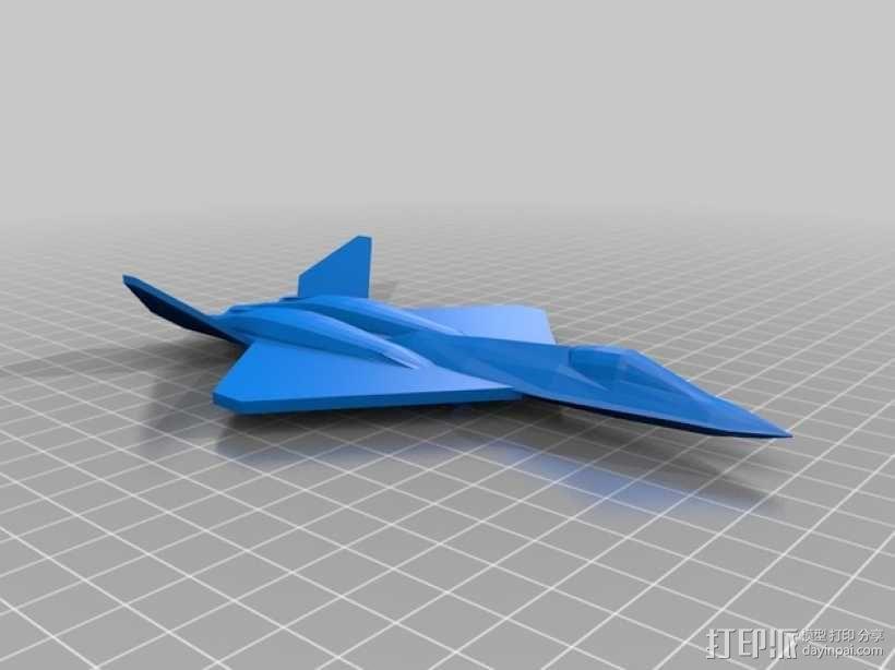 YF23黑寡妇战斗机 3D模型  图1