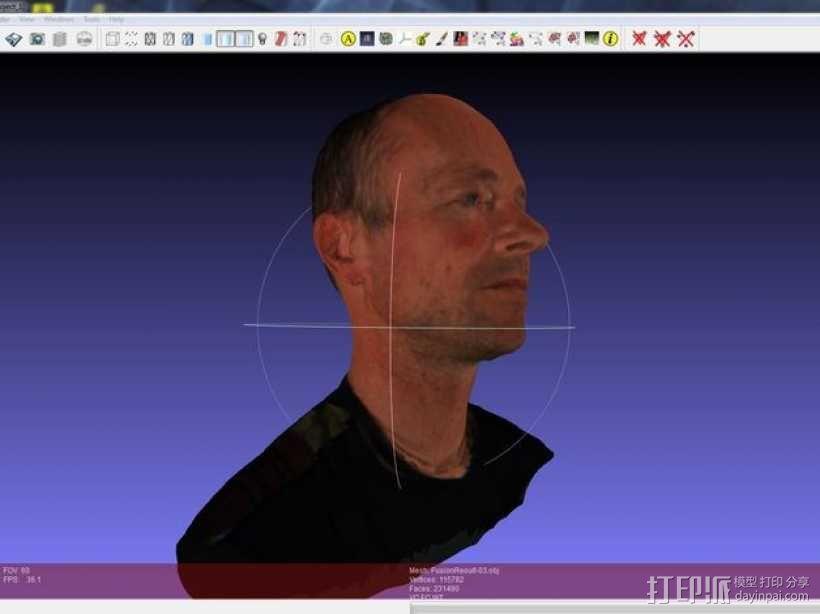 写实人物半身像 3D模型  图2