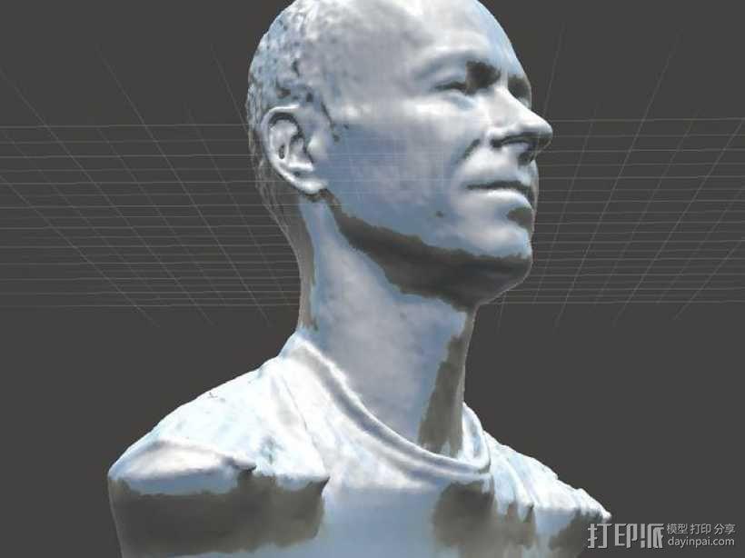 写实人物半身像 3D模型  图3