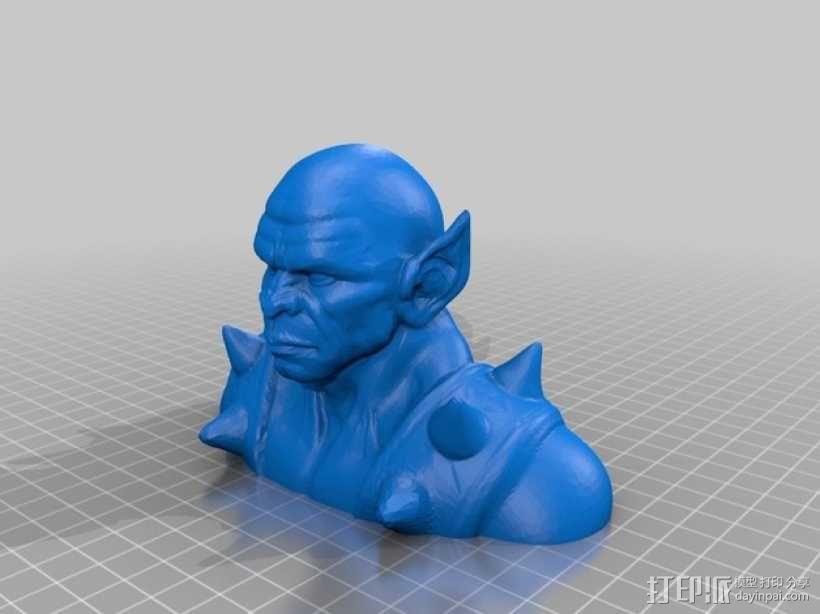 霹雳猫半身像  3D模型  图1