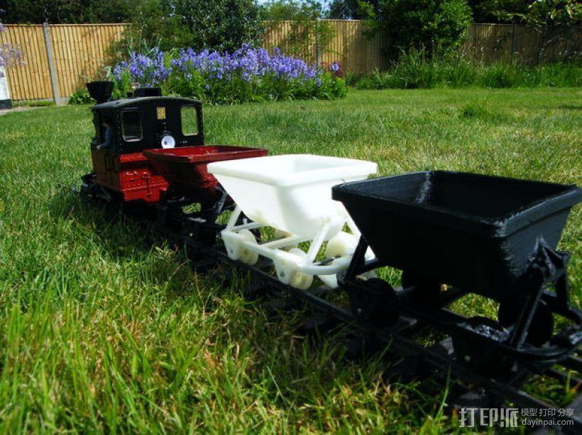 哈德森自卸铁路货车 3D模型  图1
