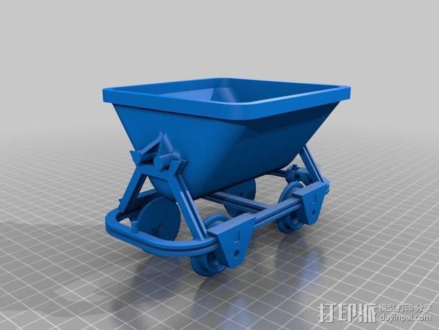 哈德森自卸铁路货车 3D模型  图4