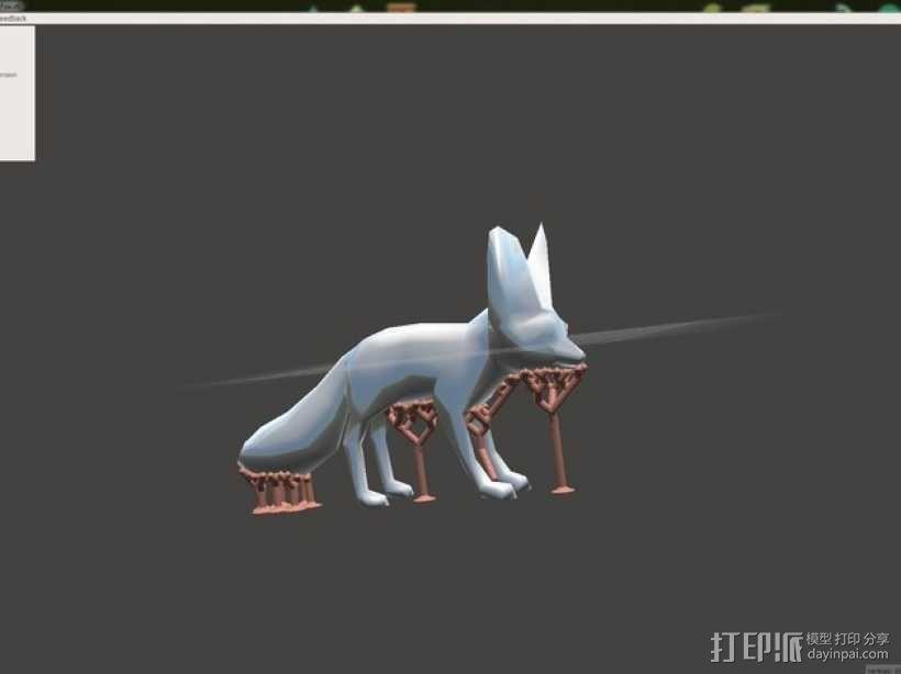 非洲狐 3D模型  图1