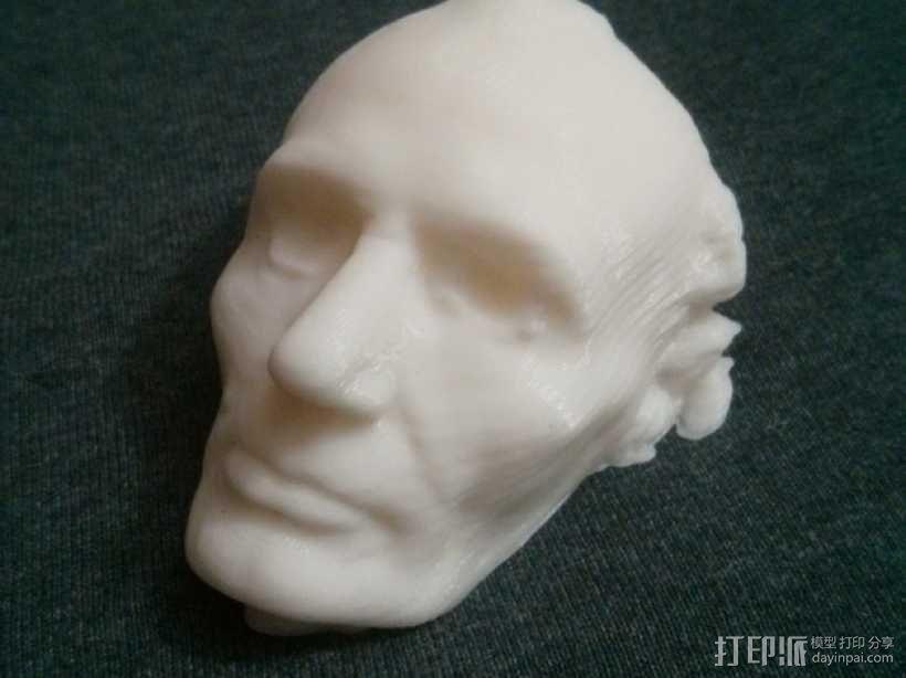 林肯面部模型 3D模型  图1
