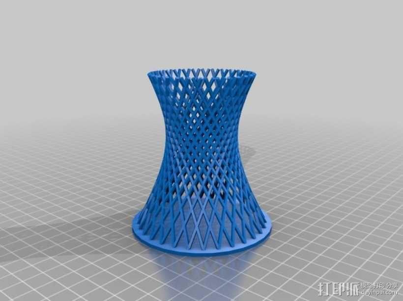 双曲线塔 笔筒 3D模型  图1