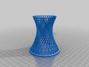 双曲线塔 笔筒 3D模型