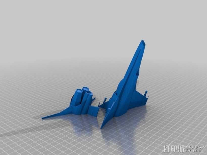 Battlestar Galactica Viper MKVII 飞船模型 3D模型  图1