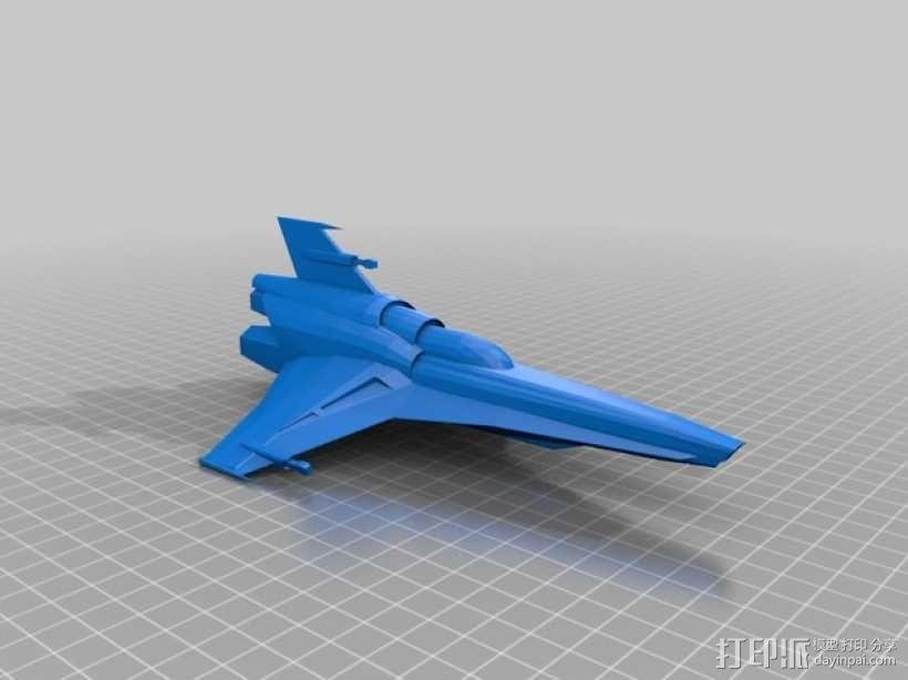 Battlestar Galactica Viper MKVII 飞船模型 3D模型  图2