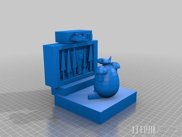 看电视的小羊 3D模型  图2