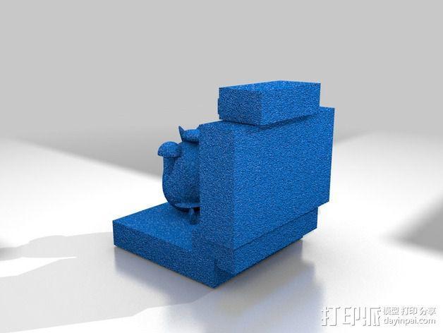 看电视的小羊 3D模型  图5