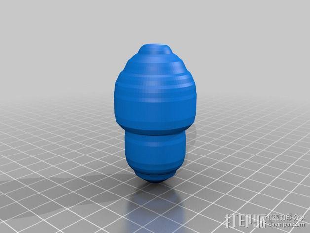 橡果 3D模型  图1
