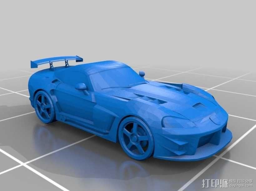 道奇蝰蛇   SRT-10跑车 3D模型  图1