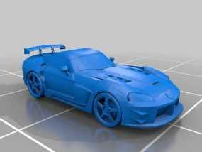 道奇蝰蛇   SRT-10跑车 3D模型