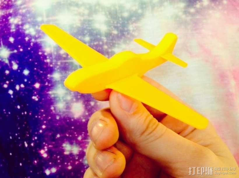 p-51 野马战斗机 3D模型  图1