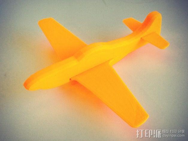 p-51 野马战斗机 3D模型  图2