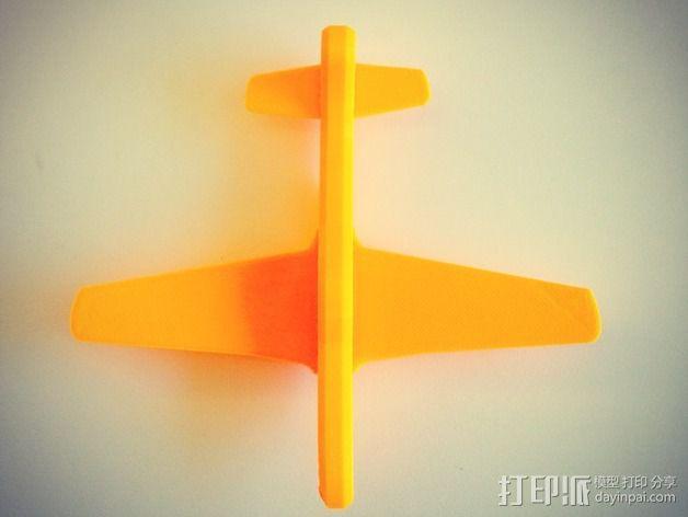 p-51 野马战斗机 3D模型  图4