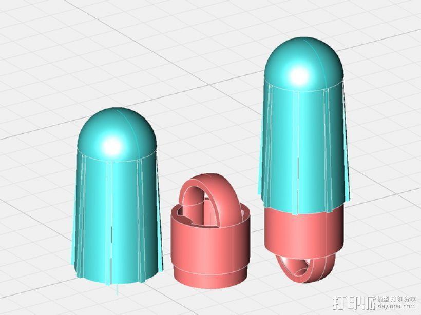 火箭前锥 3D模型  图1
