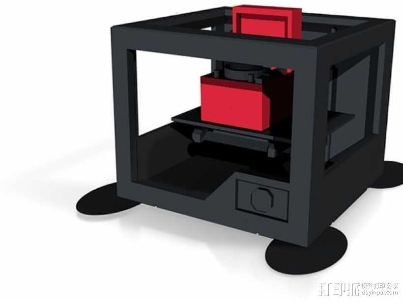唱片机 3D模型  图1