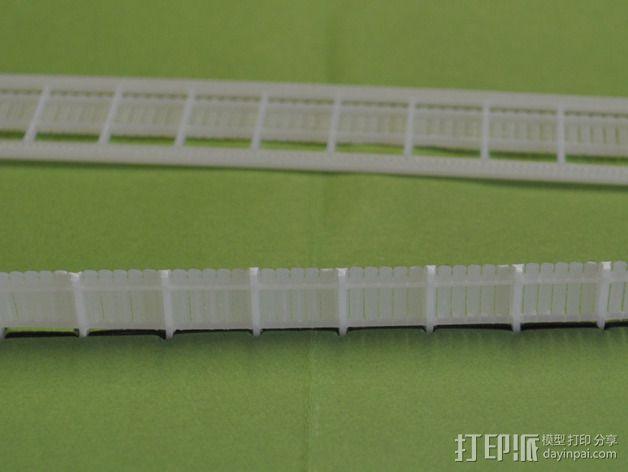 铁轨护栏 3D模型  图1
