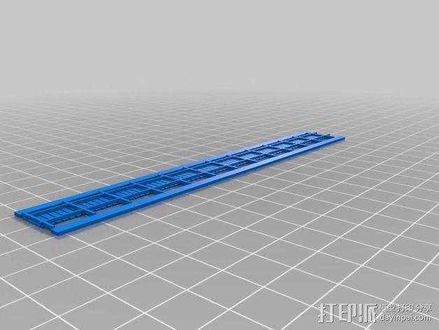 铁轨护栏 3D模型  图2