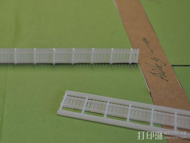 铁轨护栏 3D模型  图3