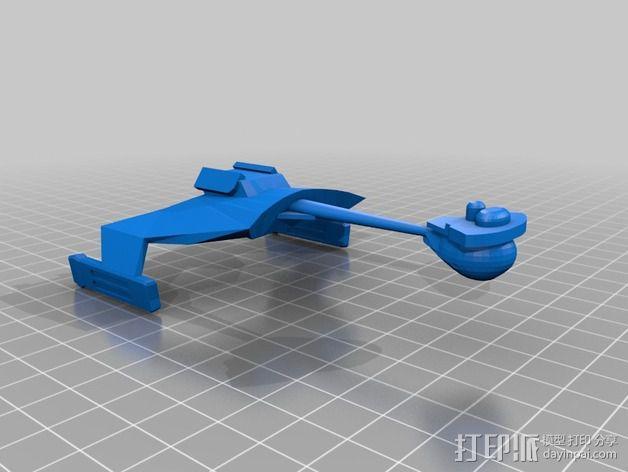 Klingon D7星际巡洋舰 3D模型  图2