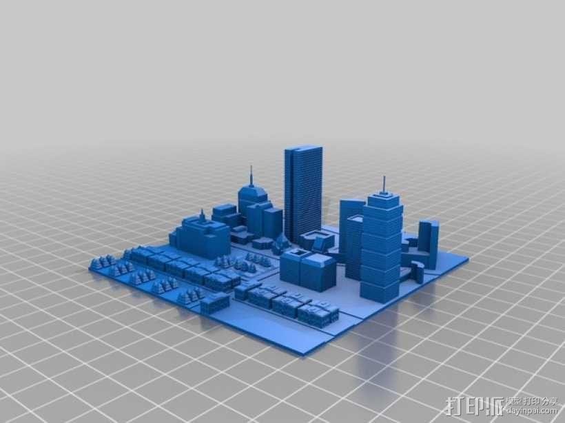 波士顿城市建筑群模型 3D模型  图1