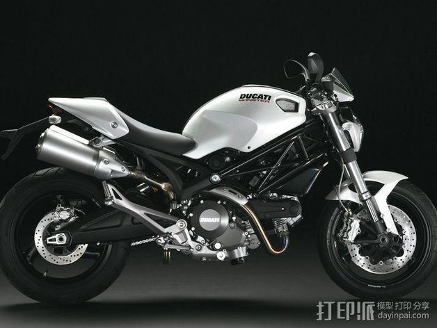 Ducati Monster 696摩托车钥匙扣 3D模型  图1