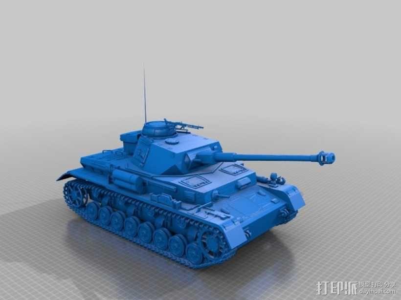 坦克 3D模型  图1