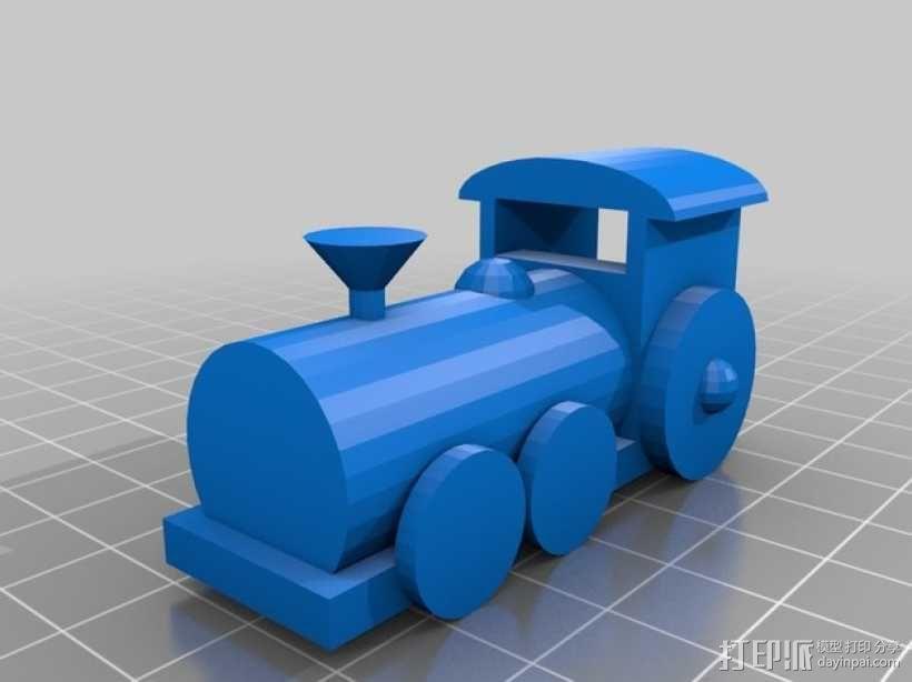 迷你火车 3D模型  图1
