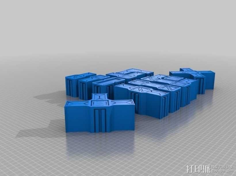 建筑墙壁模型 3D模型  图1