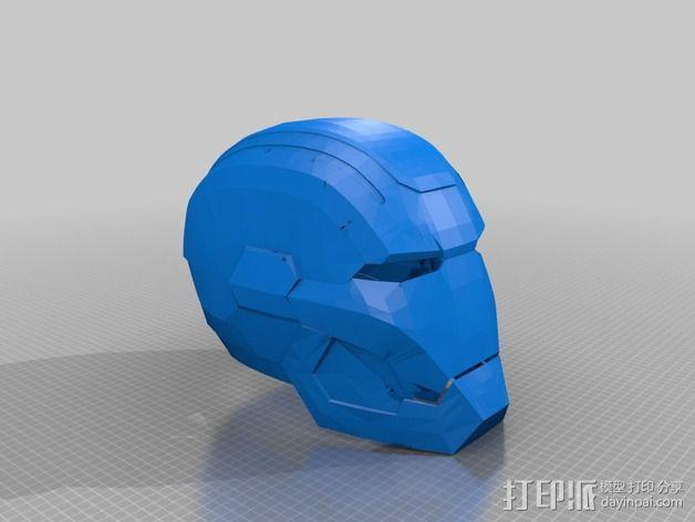 战争机器爱国者机器人头盔 3D模型  图2