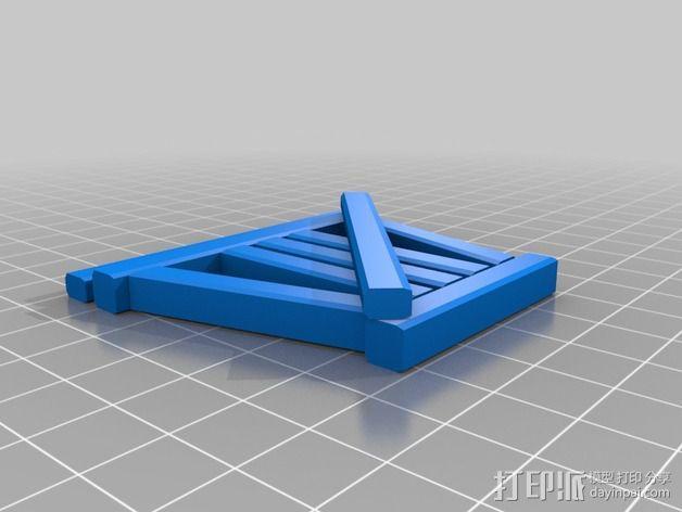 火车轨道 3D模型  图2