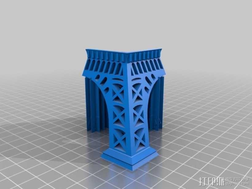 埃菲尔铁塔 3D模型  图2