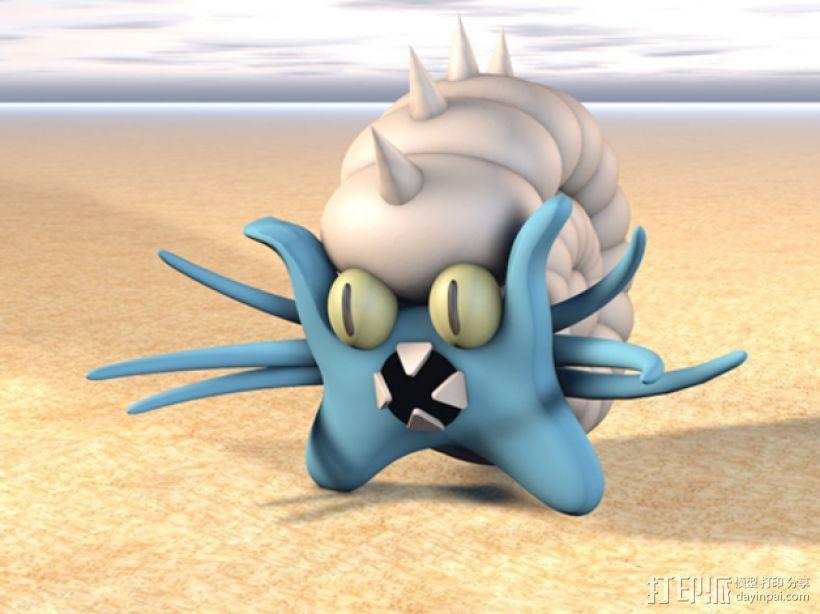 口袋妖怪海螺 3D模型  图1