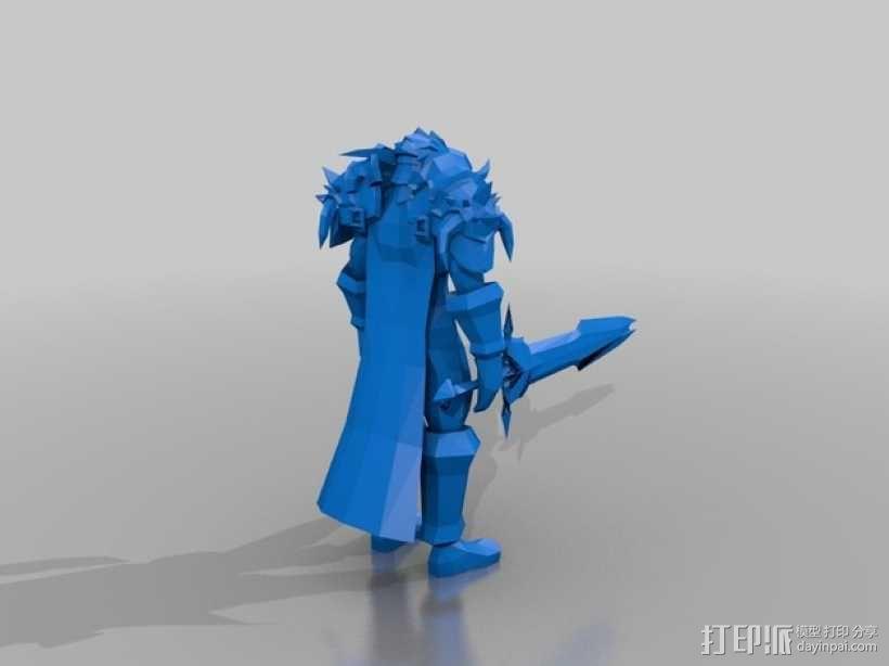 魔兽争霸死亡骑士 3D模型  图2