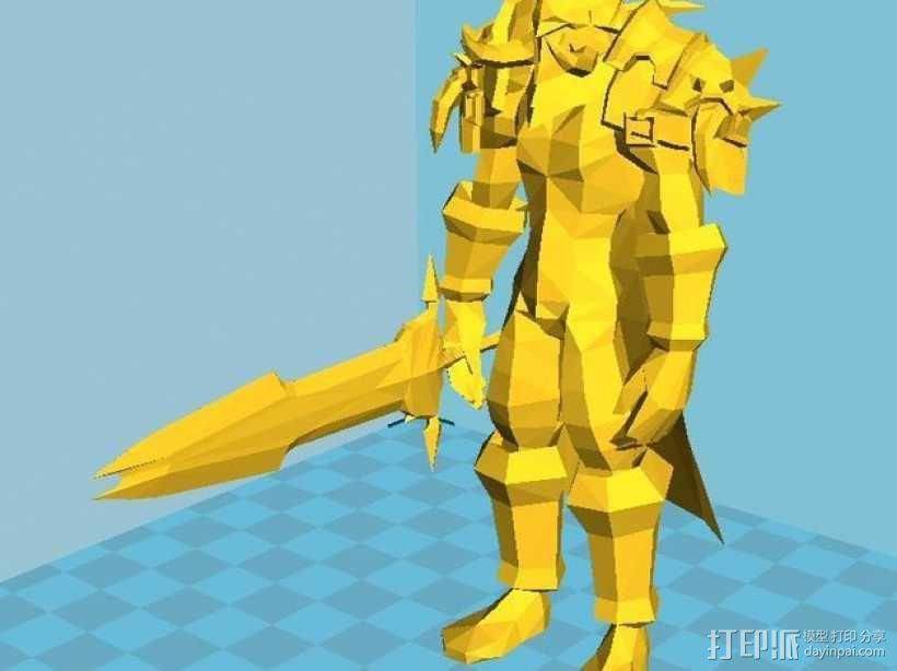 魔兽争霸死亡骑士 3D模型  图1