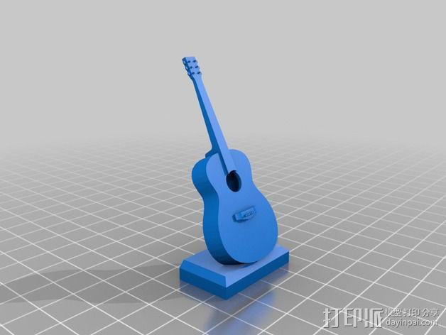 吉他 3D模型  图2