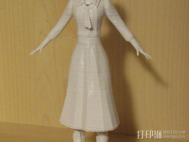 生化奇兵 伊丽莎白模型 3D模型  图4