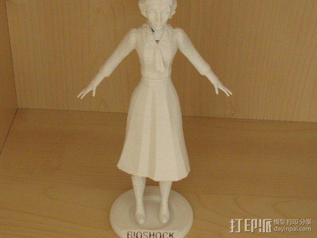 生化奇兵 伊丽莎白模型 3D模型  图1